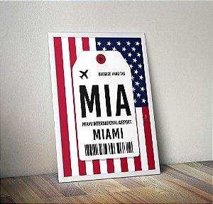 Pôster Aeroporto MIA- Miami, Flórida  - Estados Unidos