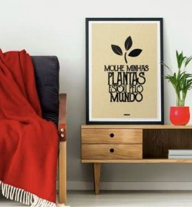 Pôster Molhe minhas plantas, estou pelo mundo