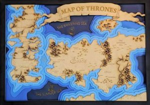 Mapa Game of Thrones - GOT 3D