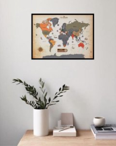 Mapa Raspadinha Vintage com MOLDURA