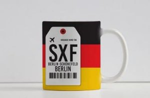 Caneca Aeroporto SXF - Schonefeld  - Berlin, Alemanha