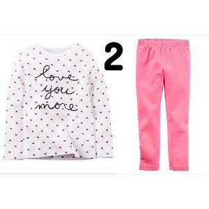 71a94666aee17 Conjunto da Carter´s para meninas leg e blusa