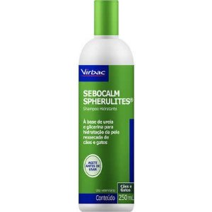 Shampoo Virbac Sebocalm Spherulites  - 250 mL- Para Seborreia
