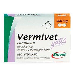 Vermivet Gatos Cx 2 Comprimidos Palatáveis - Biovet