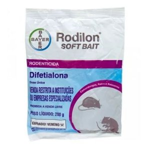 Raticída da Bayer Rodilon Soft Bait - Pc 200 gr