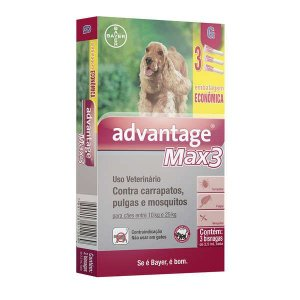 Advantage Max3 Bayer 2,5ml 10 A 25kg Combo Leve 3 Pague 2