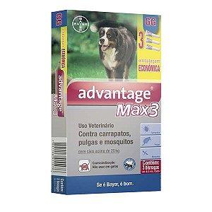 Advantage Max3 Bayer 4ml  Câes Acima de 25kg Combo Leve 3 Pague 2