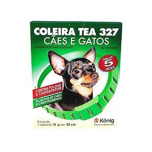 Coleira Antipulgas E Carrapatos Tea 327 P 33cm Para Cães e Gatos