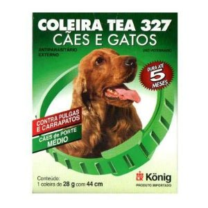Coleira Antipulgas E Carrapatos Tea 327 M 44cm Para Cães