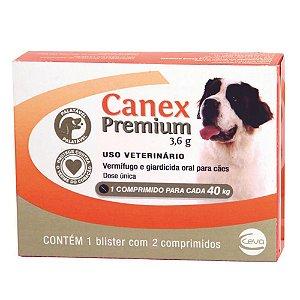 Vermífugo Para Cães Ceva Canex Premium 3,6g 40 kg - Cx 2 comprimidos