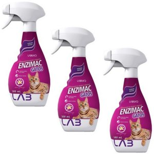 EnziMac Gatos 500ml Labgard - Kit 3 Frascos