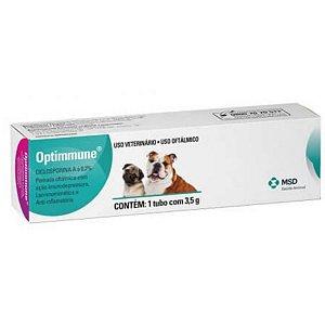 Pomada Oftálmica Para Cães Optimmune  3,5 gr Val. Set/20