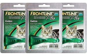 Frontline Plus gatos 3 Unidades