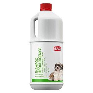 Shampoo Dermatológico Para Cães Filhotes e Animais Com Pele Sensível Hipoalergênico Ibasa - 1 Litro