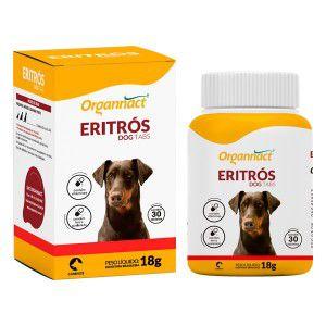 Suplemento Organnact Eritrós Dog Tabs 18g - Pote 30 Tabletes Mastigáveis