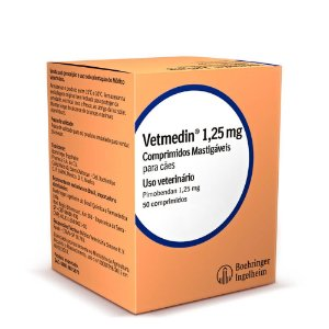 Vetmedin 1,25 Mg Caixa 50 Comprimidos Palatáveis