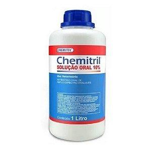 Chemitril Enrofloxacino Solução Oral 10% - Antibiótico P/ Aves