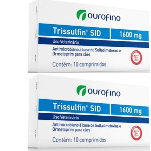 Trissulfin Sid  1600mg Cx 10 Comprimidos - Kit 2 Caixas