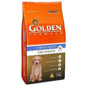 Ração GoldenFilhotes Carne e Arroz 15kg