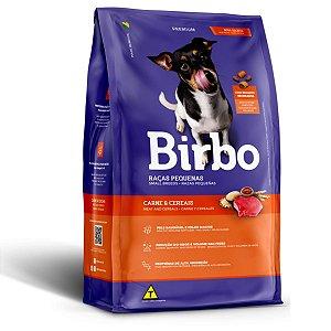 Ração Para Cães Adultos Raças Pequenas Birbo Premium Sabor Carne e Cereais