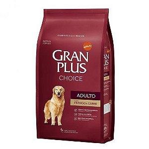 Ração Granplus Choice Cães Adultos Sabor FRANGO & CARNE - 15Kg