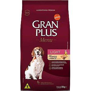Ração Granplus Menu Cães Adultos Light Sabor FRANGO & ARROZ 15kg