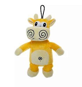 Brinquedo Pelúcia Vaca Amarela Home Pet para Cães