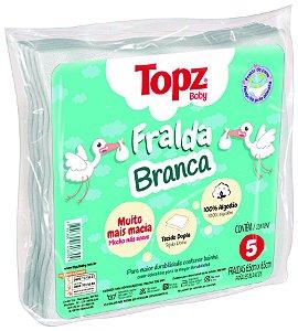 Fralda De Pano Branca - Linha Básica Topz Baby - Cremer