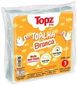 Toalha Fralda De Pano Branca - Linha Básica Topz Baby - Cremer