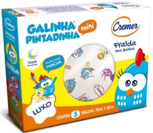 Fralda De Pano Galinha Pintadinha Luxo - Cremer