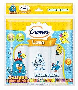 Pano de Boca Galinha Pintadinha - Cremer C/ 3 Unid.