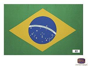 Tecido Bandeira do Brasil