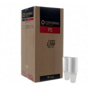 Copos Descartáveis 80 ml. COPOBRAS 2500 u. (25x100)