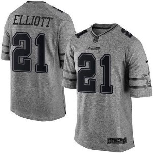 Jersey - 21 Elliott - Gridiron Grey - Dallas Cowboys