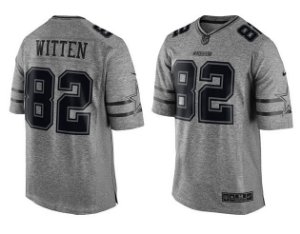 Jersey - 82 Jason Witten - Gridiron Grey - Dallas Cowboys