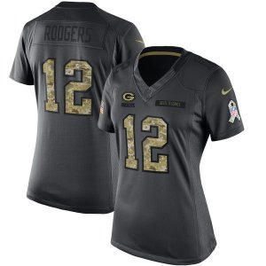 Jersey - 12 Aaron Rodgers - Salute to Service  - Green Bay Packer - FEMININA
