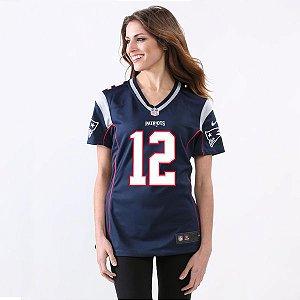 Jersey - 12 Tom Brady - New England Patriots - FEMININA