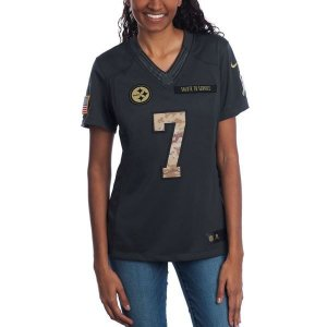Jersey - 7 Ben Roethlisberger - Salute to Service  - Pittsburgh Steelers - FEMININA