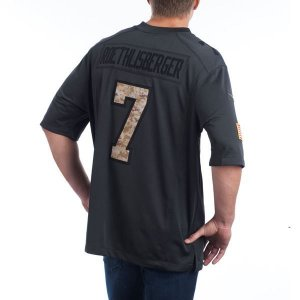 Jersey - 7 Ben Roethlisberger - Salute to Service  - Pittsburgh Steelers - MASCULINA