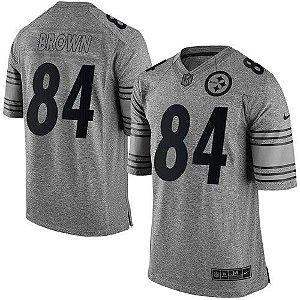 Jersey - 84 Antonio Brown - Gridiron Grey - Pittsburgh Steelers - MASCULINA