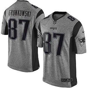 Jersey - 87 Rob Gronkowski - Gridiron Grey - New England Patriots - MASCULINA