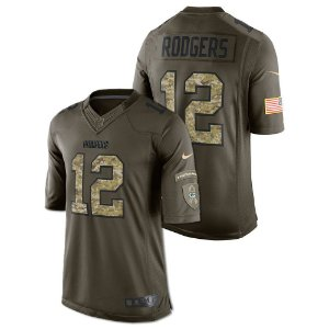 Jersey - 12 Aaron Rodgers - Salute to Service  - Green Bay Packer - MASCULINA