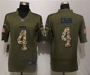 Jersey - 4 Derek Carr - Salute to Service  - Oakland Raiders