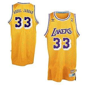 Jersey Hardwood Classics  - 33 Kareem Abdul-Jabbar - los angeles lakers Adidas- MASCULINA