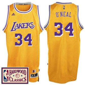 Jersey Hardwood Classics  - 34 Shaquille O'Neal - los angeles lakers Adidas - MASCULINA