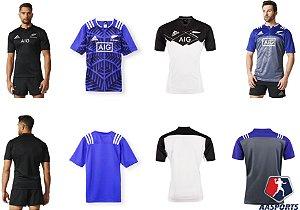 Camiseta Adidas Rugby All Blacks Nova Zelandia - VÁRIOS MODELOS