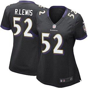 Jersey - 52 Ray Lewis - Baltimore Ravens - FEMININA