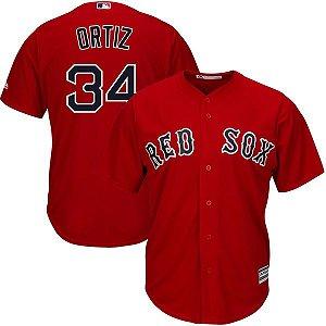 Jersey - 34 David Ortiz - Boston Red Sox - MASCULINA