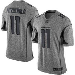 Jersey - 11 Larry Fitzgerald - Arizona Cardinals - Gridiron Gray