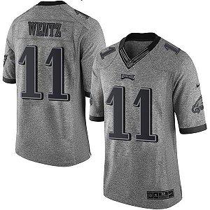 Jersey - 11 Carson Wentz - Philadelphia Eagles - Gridiron Gray